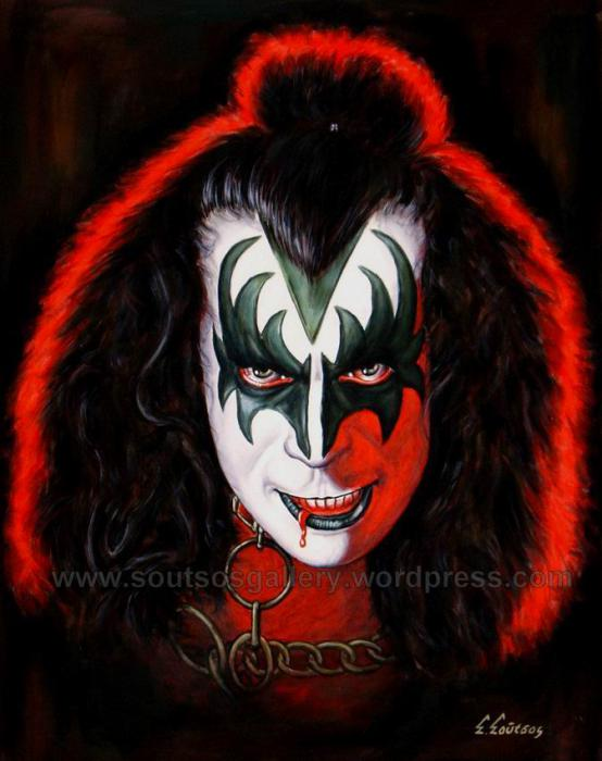 Kiss, Gene Simmons by Spiros-Soutsos